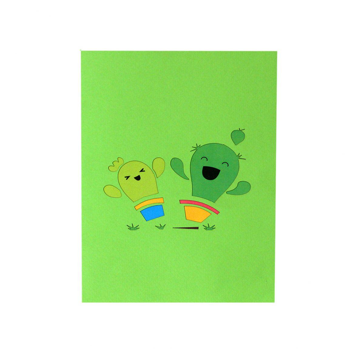 cactus pop up card
