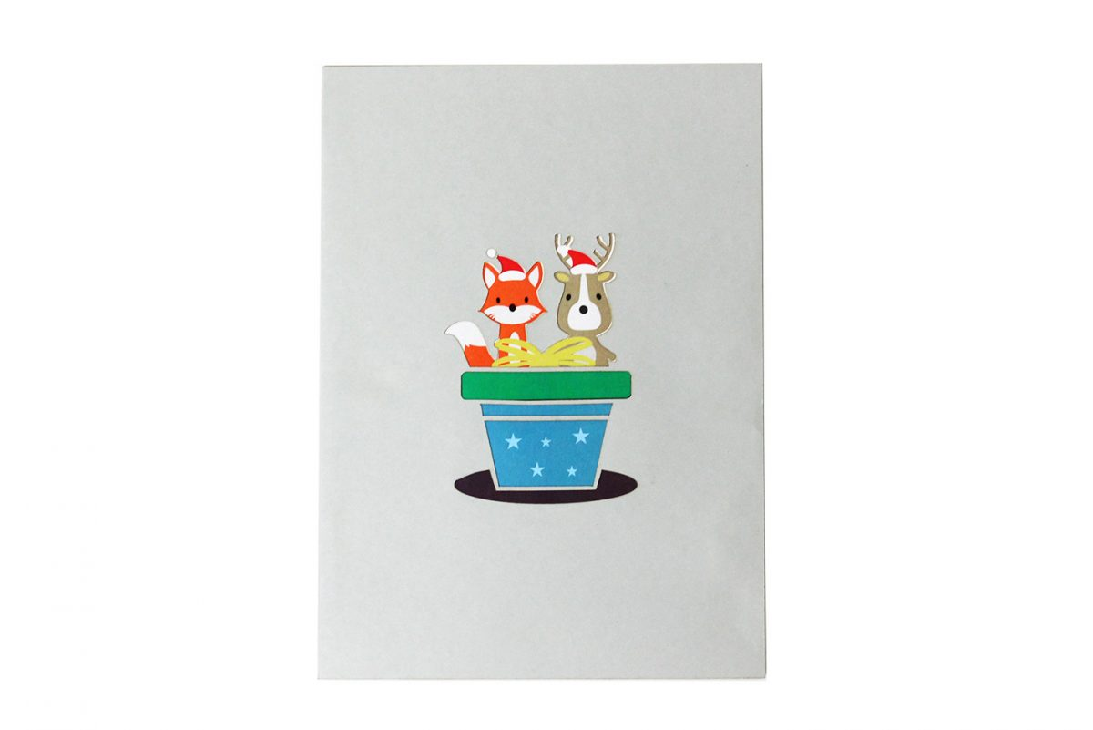 chirstmas box pop up card