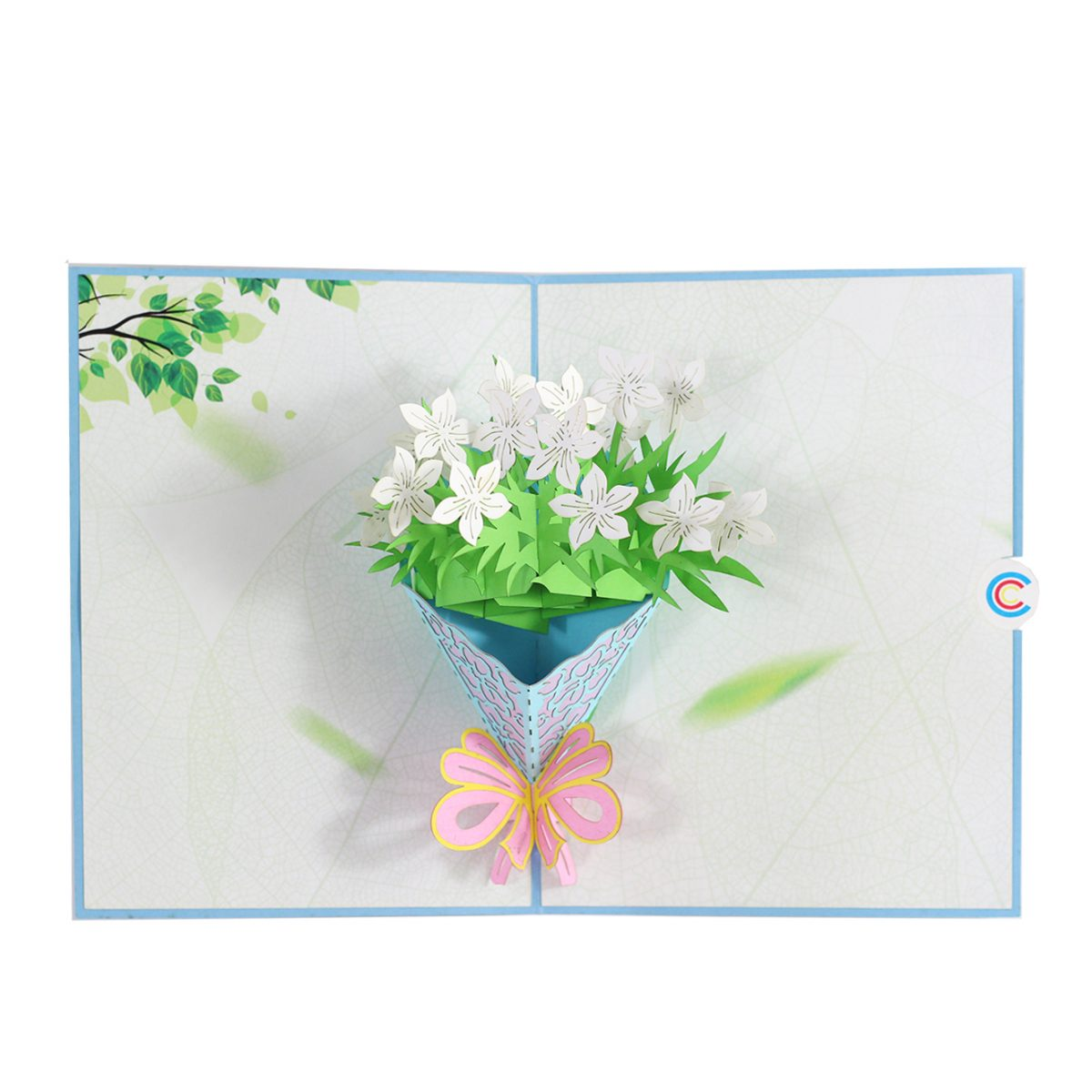 Bouquet Of Lily Pop Up Card