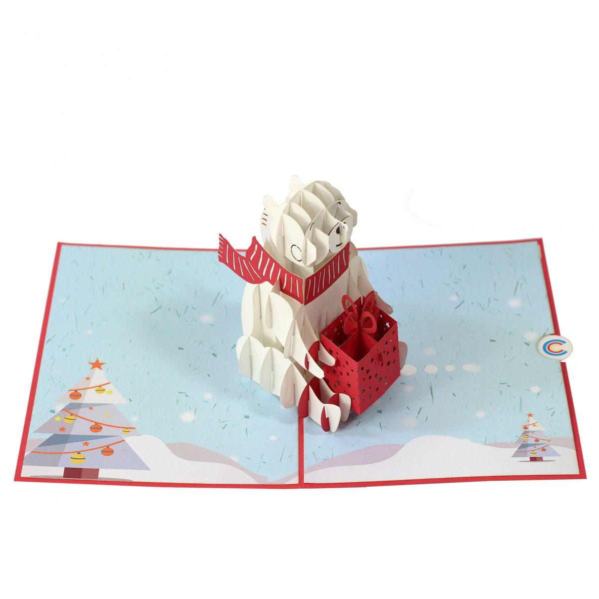 Polar Bear Pop up Card