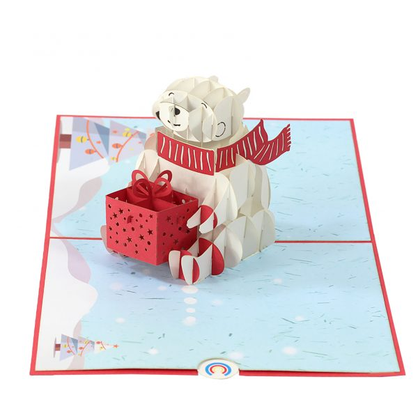 Polar Bear Pop up Card