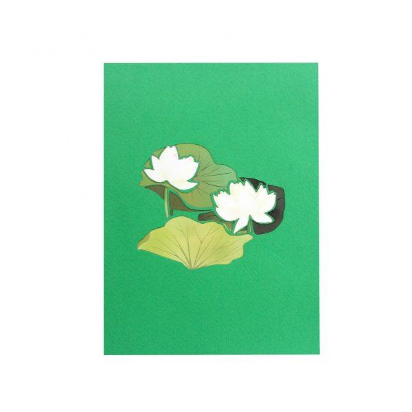 White Lotus Pop Up Card