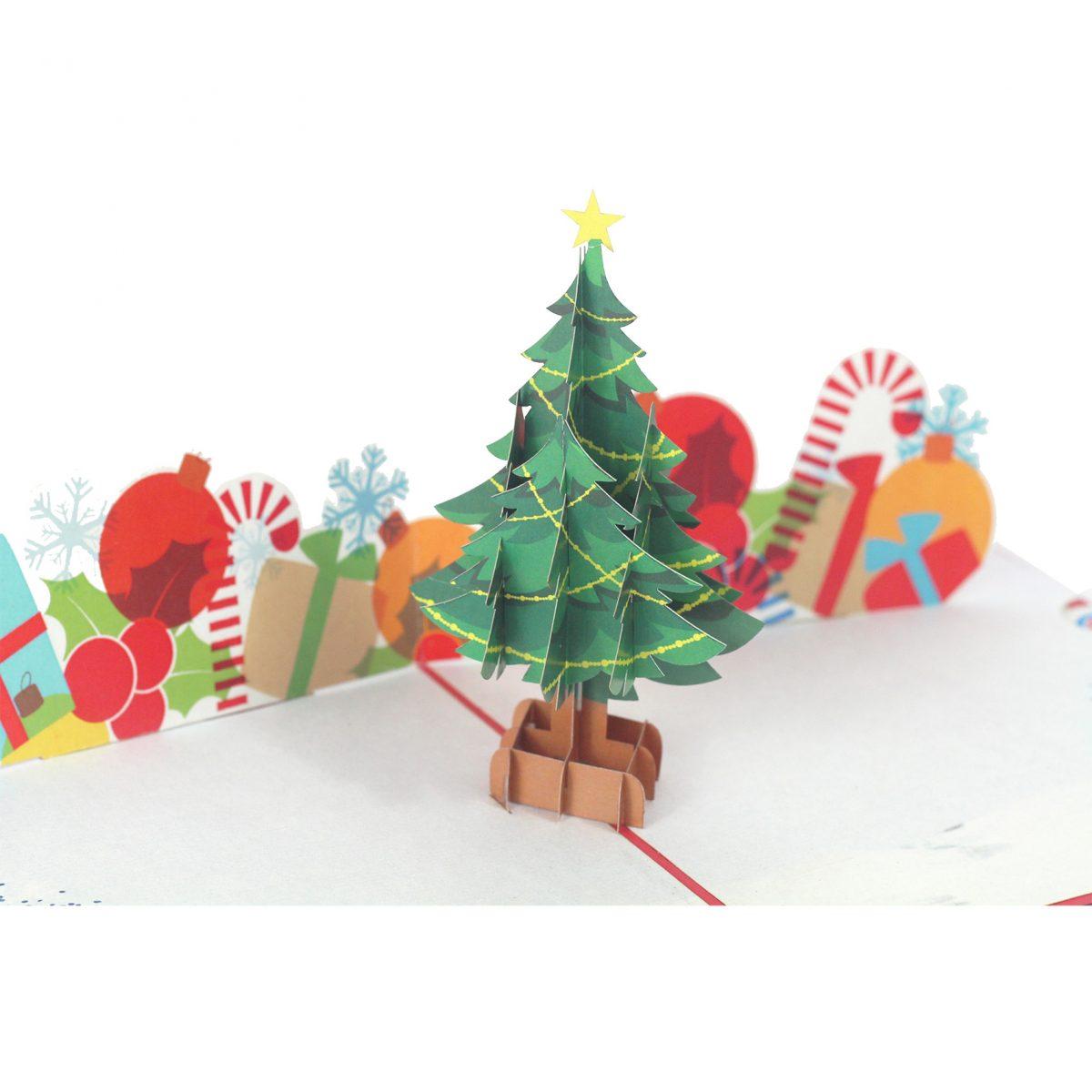 chirstmast Tree Pop Up Card