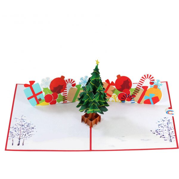 chirstmast Tree Pop Up Card