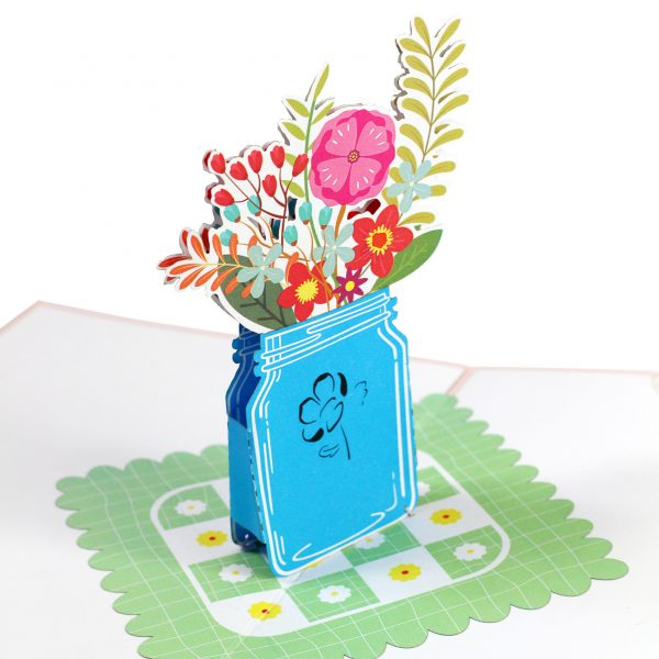 Vase With Flower Pop Up Cards