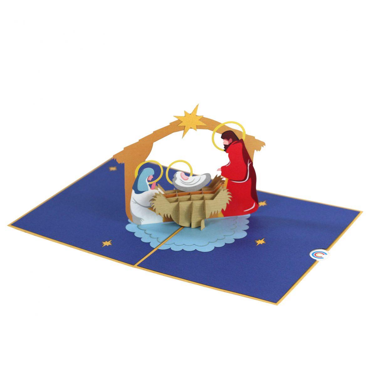 Birth of Jesus Pop Up Christmas Card