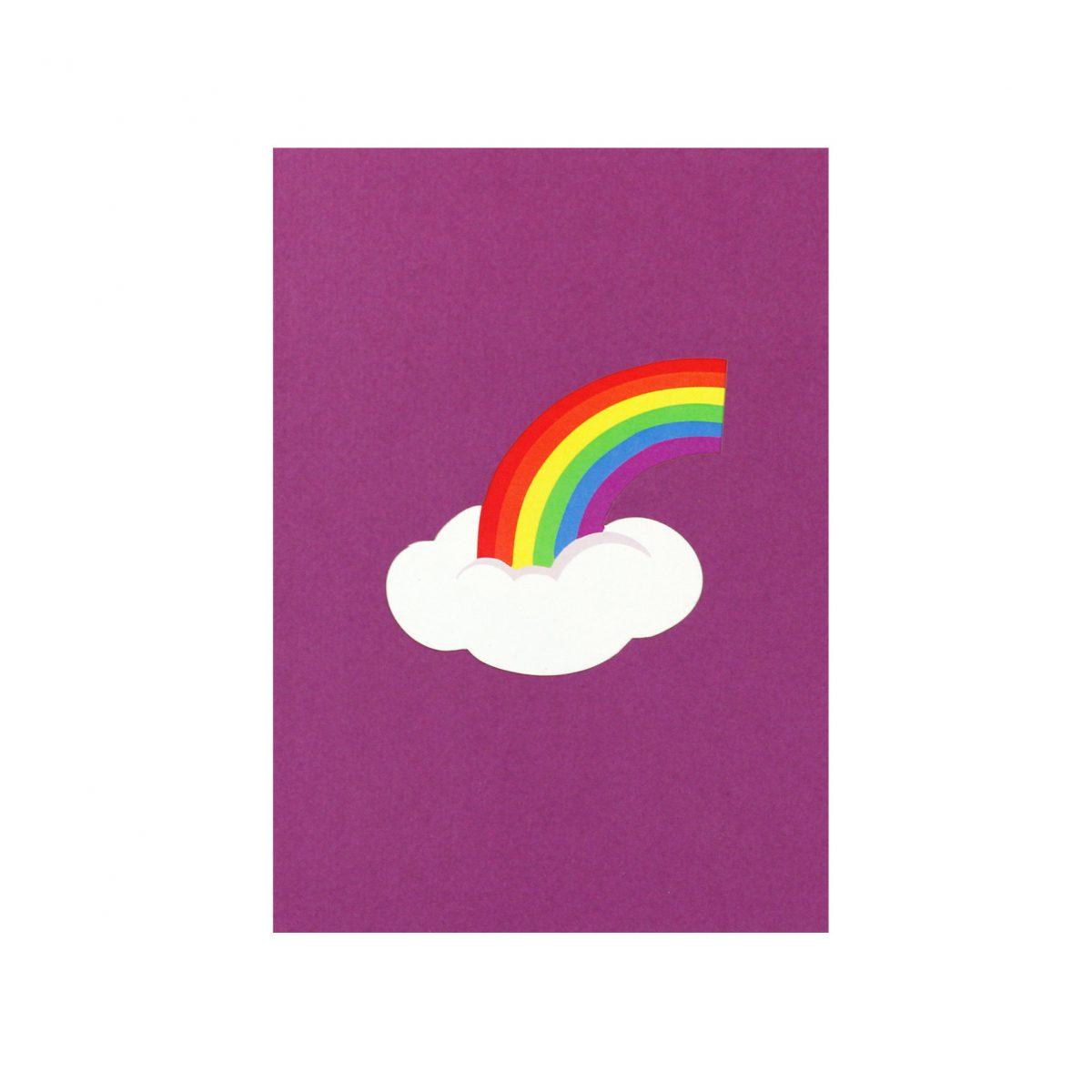 rainbow pop up card