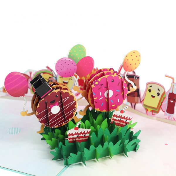 Donut And Friend Pop Up Card