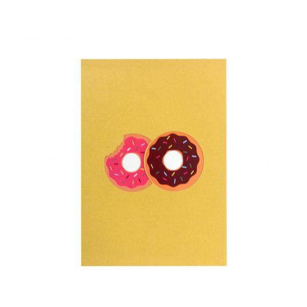 donut pop up card